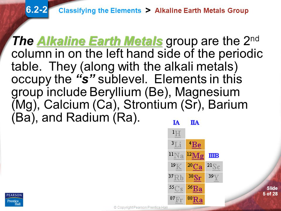 Alkaline Earth Metals Group