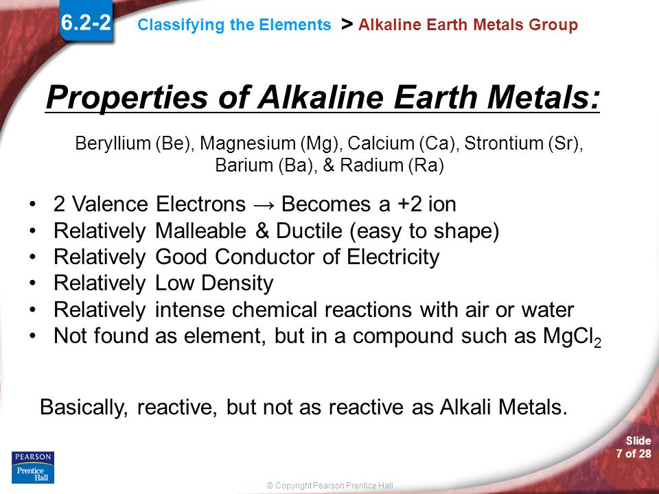 Classifying the elements ppt video online download 7 alkaline earth metals group urtaz Images