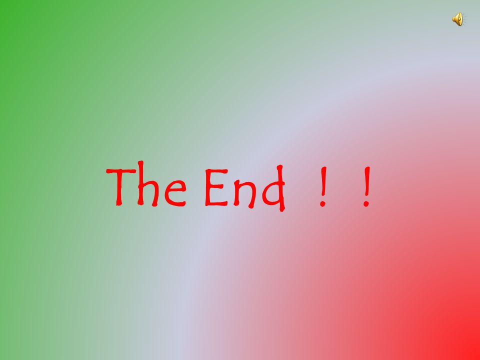 The End ! !