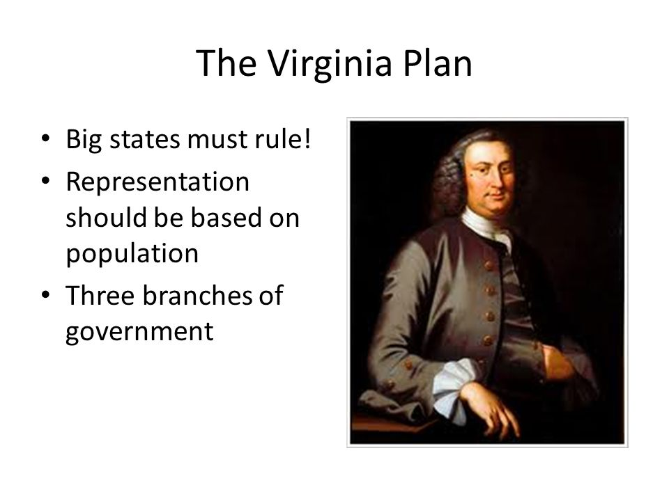 The Virginia Plan Big states must rule!