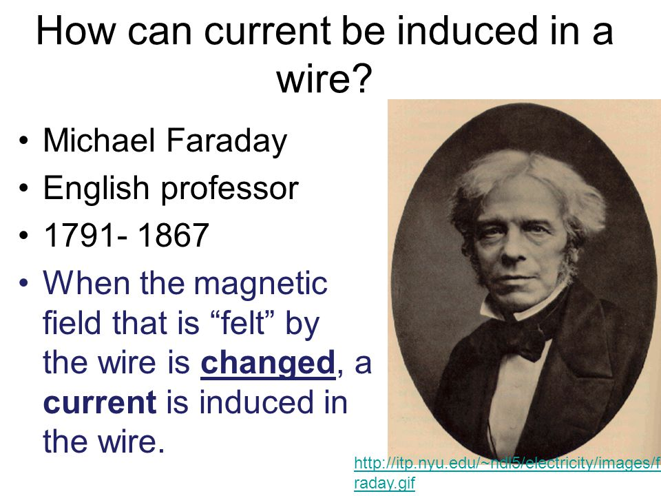 How can current be induced in a wire