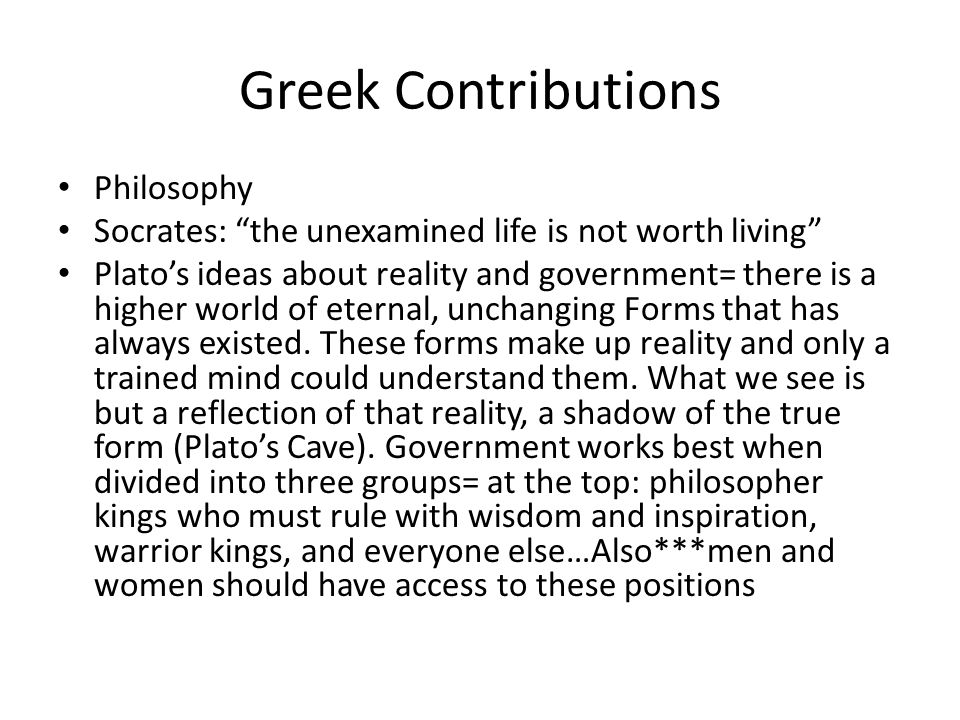 Greek Contributions Philosophy