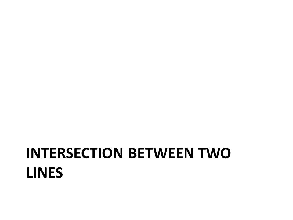 Intersection between two lines