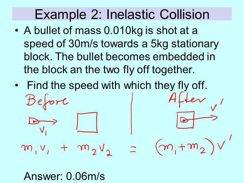 Example 2: Inelastic Collision