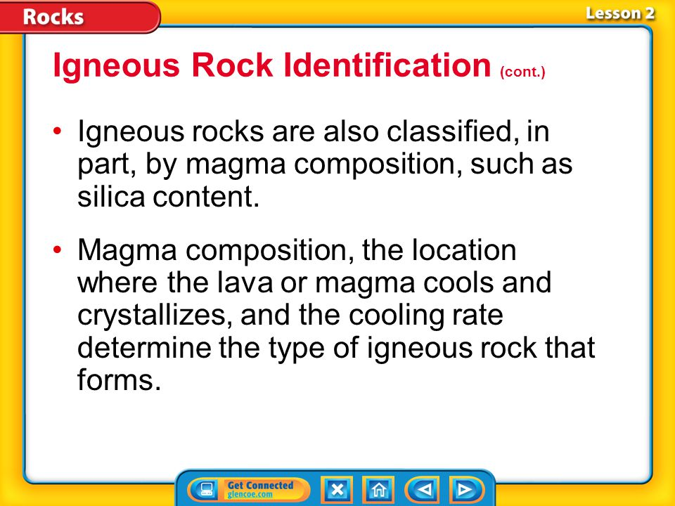 Igneous Rock Identification (cont.)