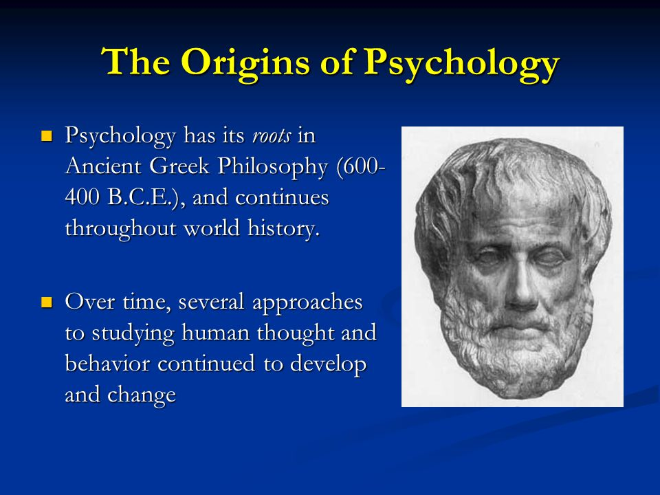 The Origins of Psychology