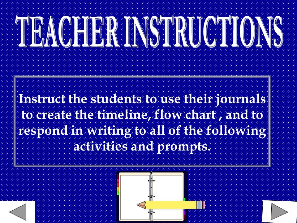 Instruct the students to use their journals