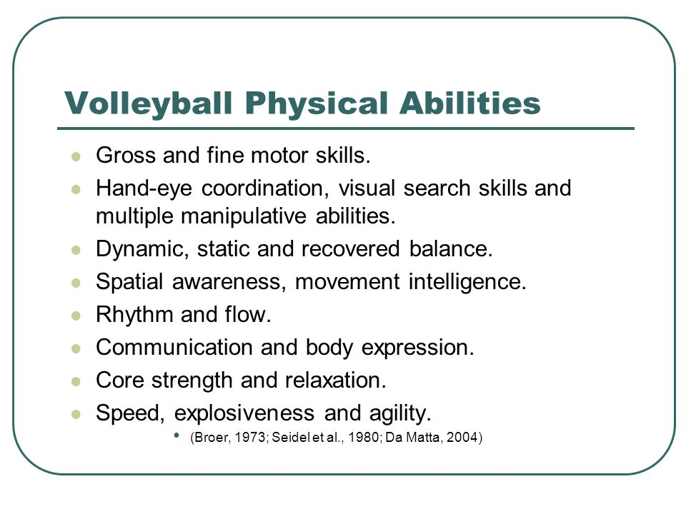 Volleyball Physical Abilities