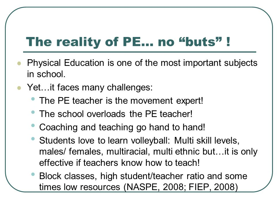 The reality of PE… no buts !