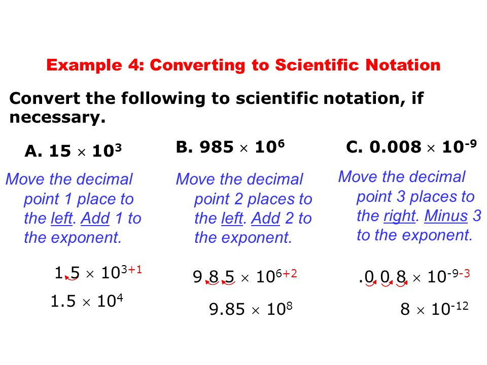 Example 4: Converting to Scientific Notation