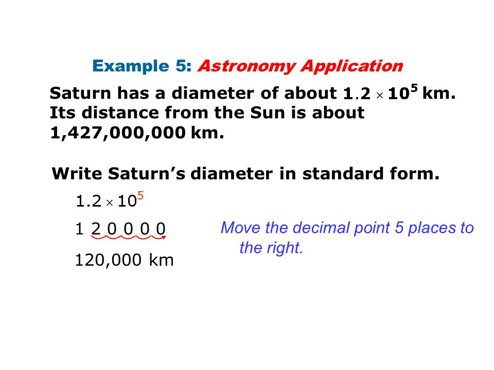 Example 5: Astronomy Application