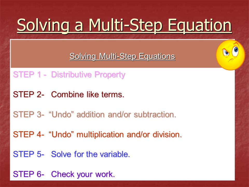 Solving a Multi-Step Equation