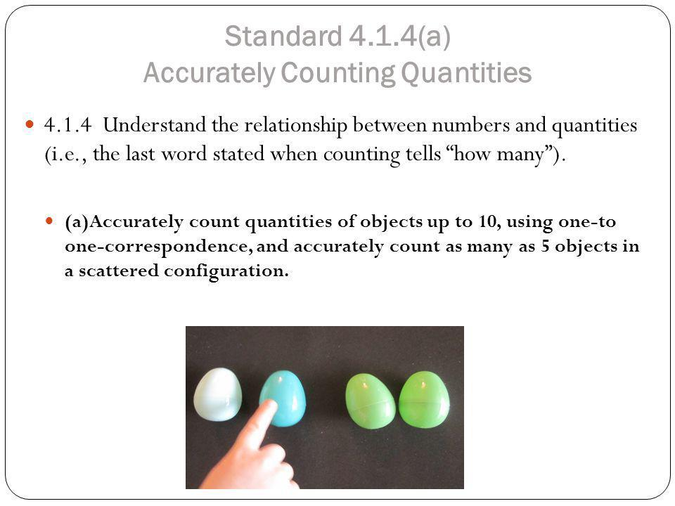 Standard 4.1.4(a) Accurately Counting Quantities