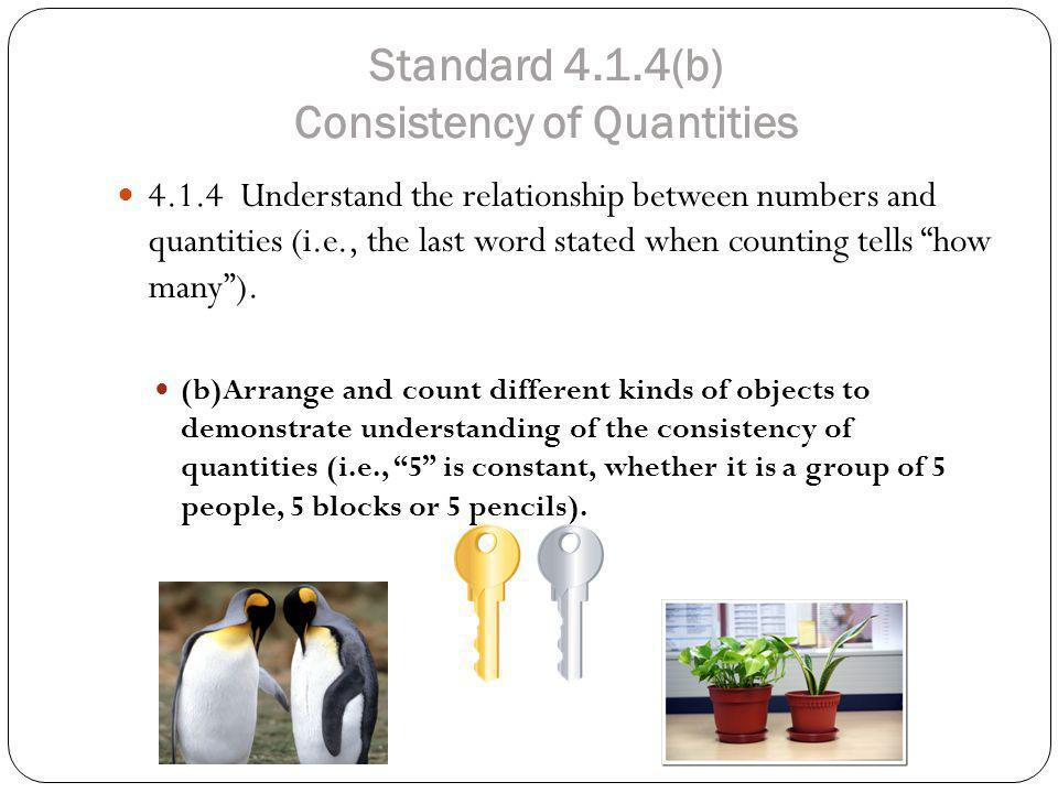 Standard 4.1.4(b) Consistency of Quantities