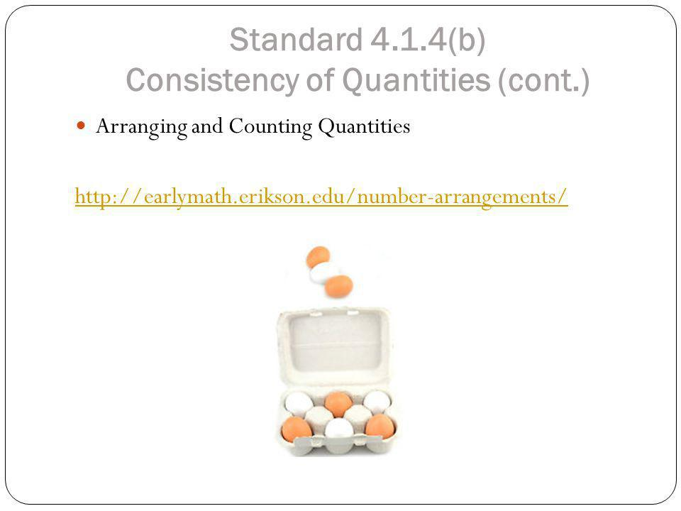Standard 4.1.4(b) Consistency of Quantities (cont.)