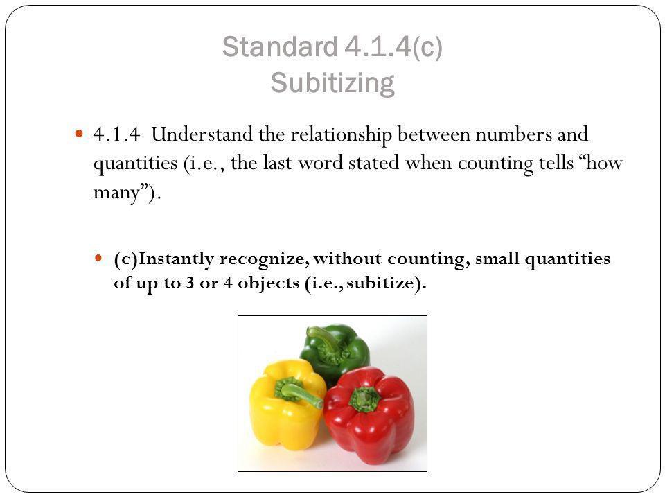Standard 4.1.4(c) Subitizing