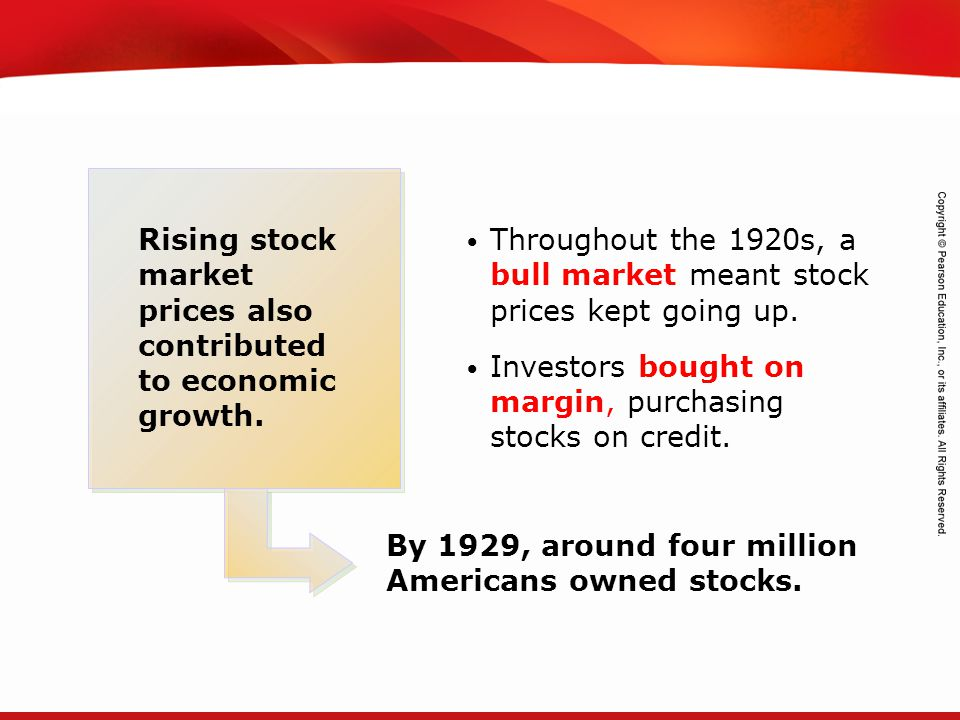 Rising stock market prices also contributed to economic growth.