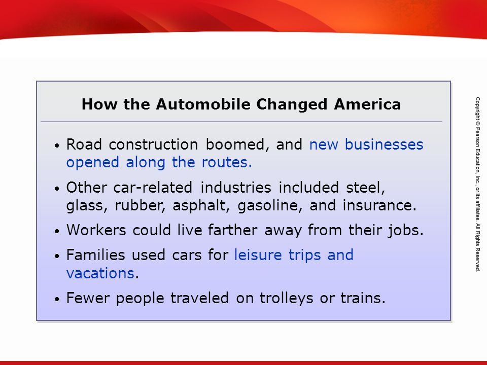 How the Automobile Changed America