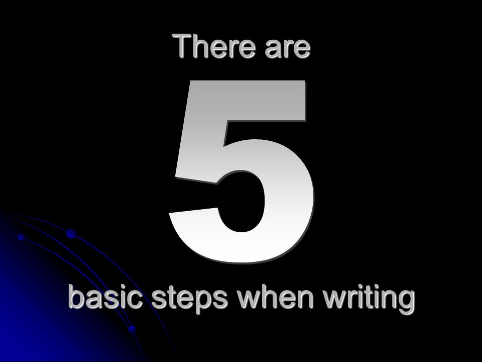 basic steps when writing