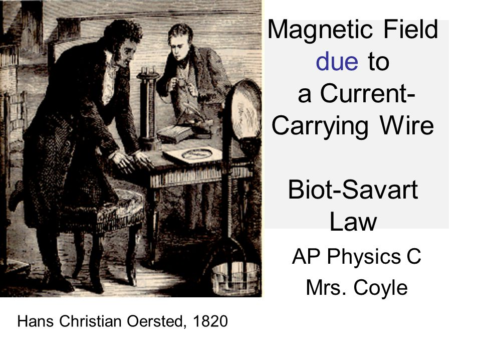 Magnetic Field due to a Current-Carrying Wire Biot-Savart Law
