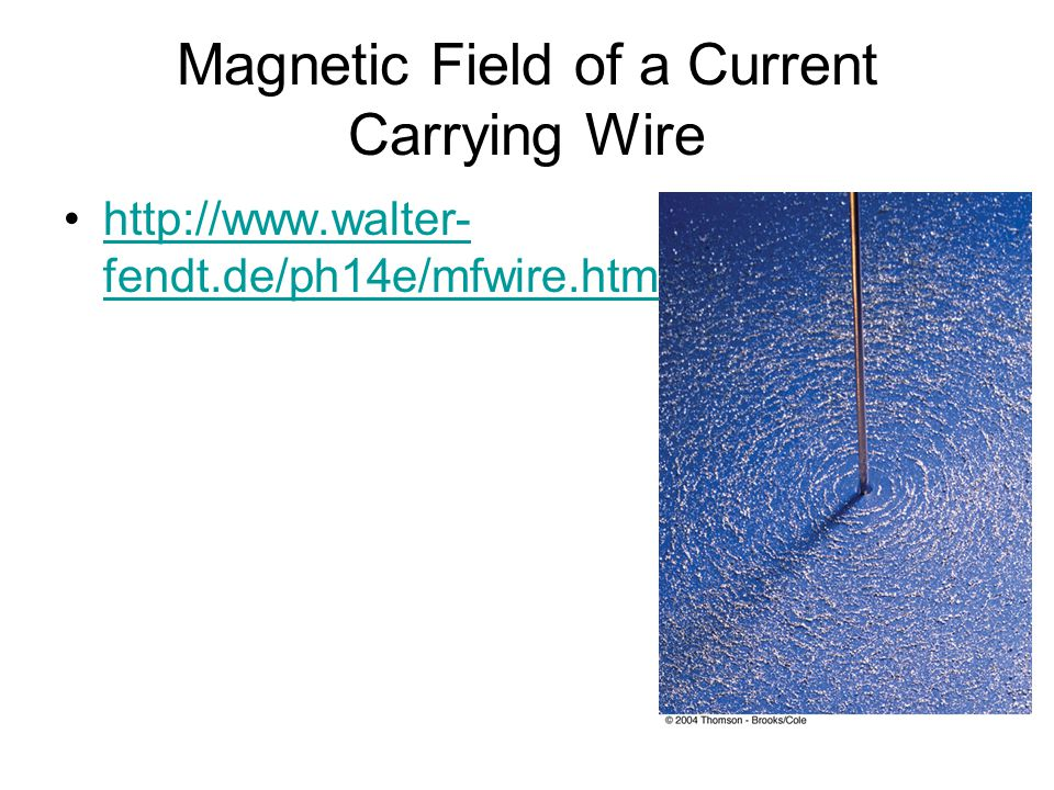 Magnetic Field of a Current Carrying Wire