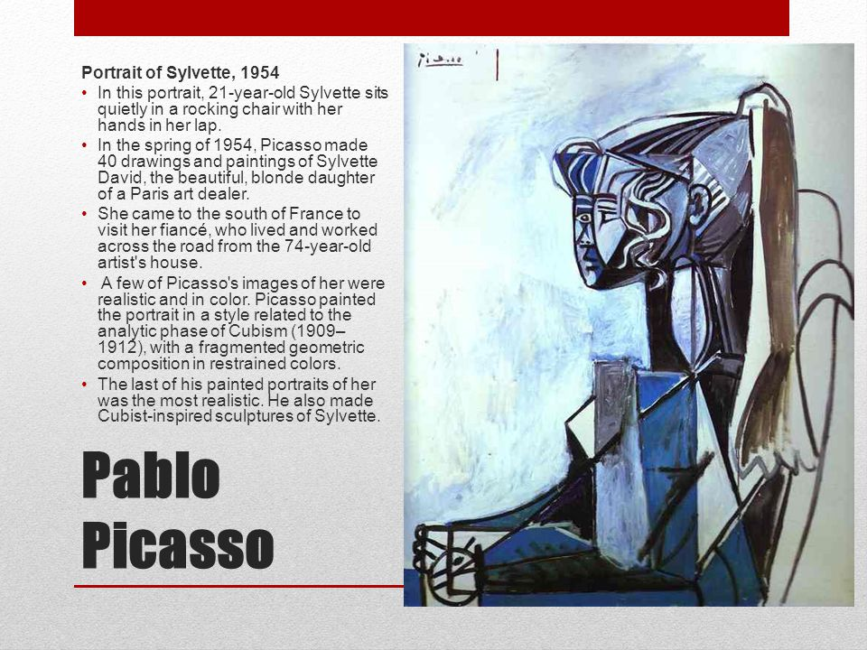 Pablo Picasso Portrait of Sylvette, 1954