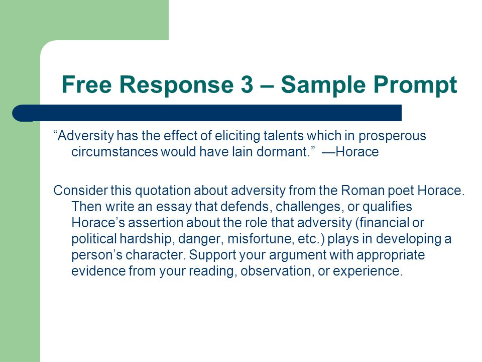 horace and adversity essay