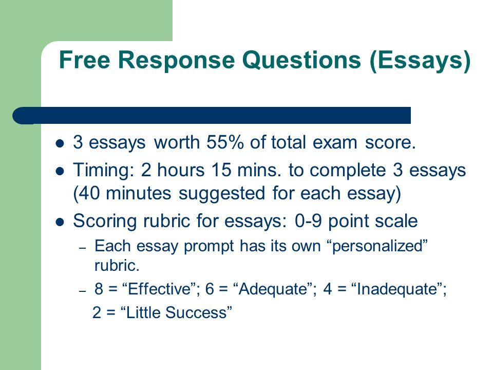 essay question scoring rubric Scoring guidance for the argumentative essay look at the essay as a whole in order to determine a single score the tasc test essay scoring rubric has a score.