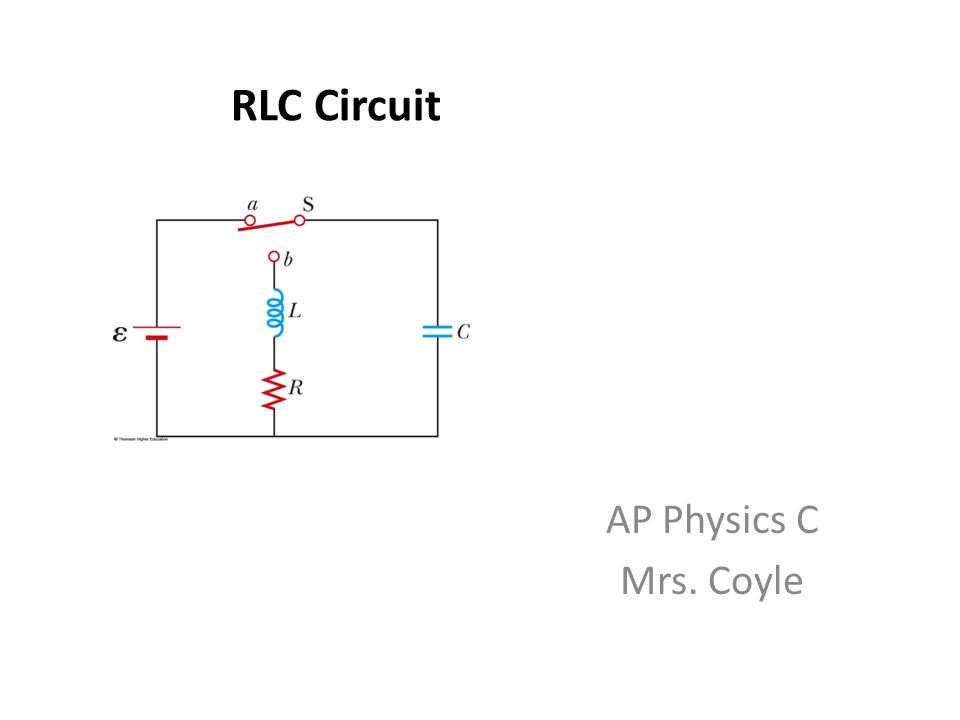 RLC Circuit AP Physics C Mrs. Coyle