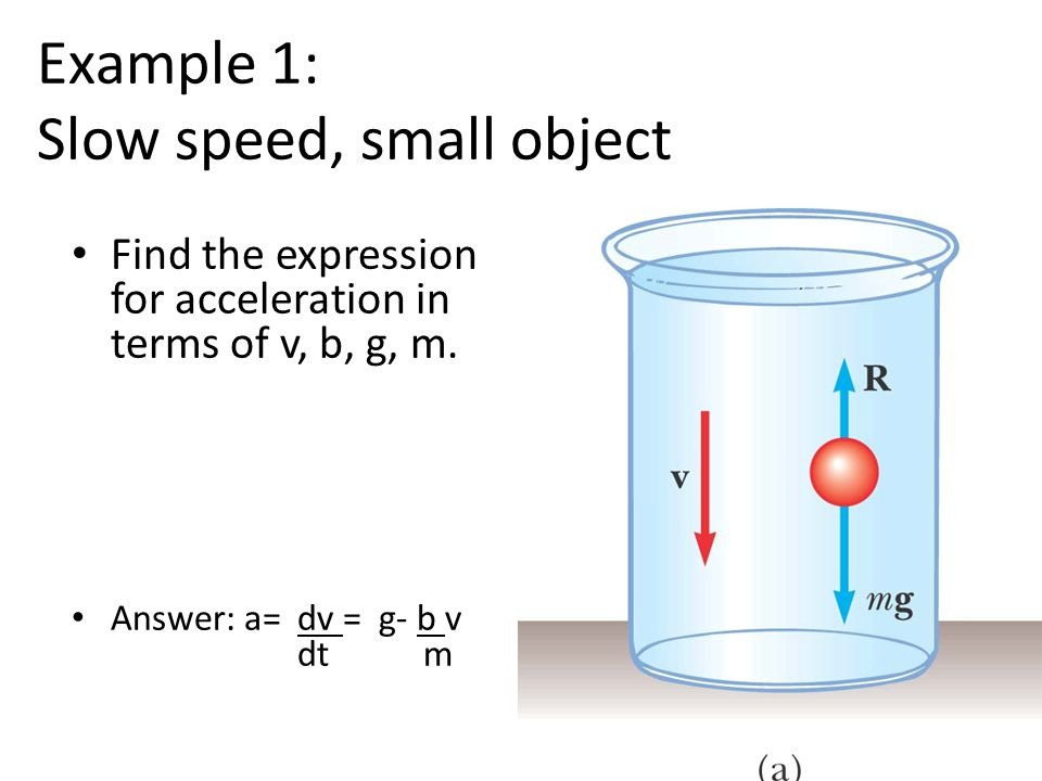 Example 1: Slow speed, small object