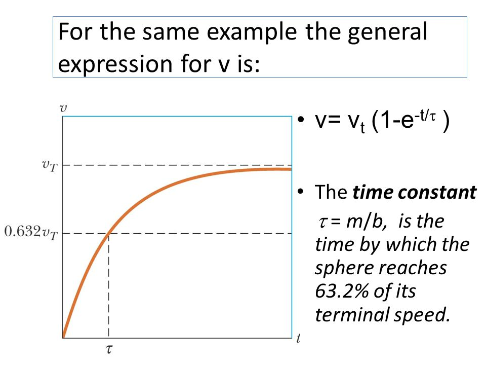 For the same example the general expression for v is: