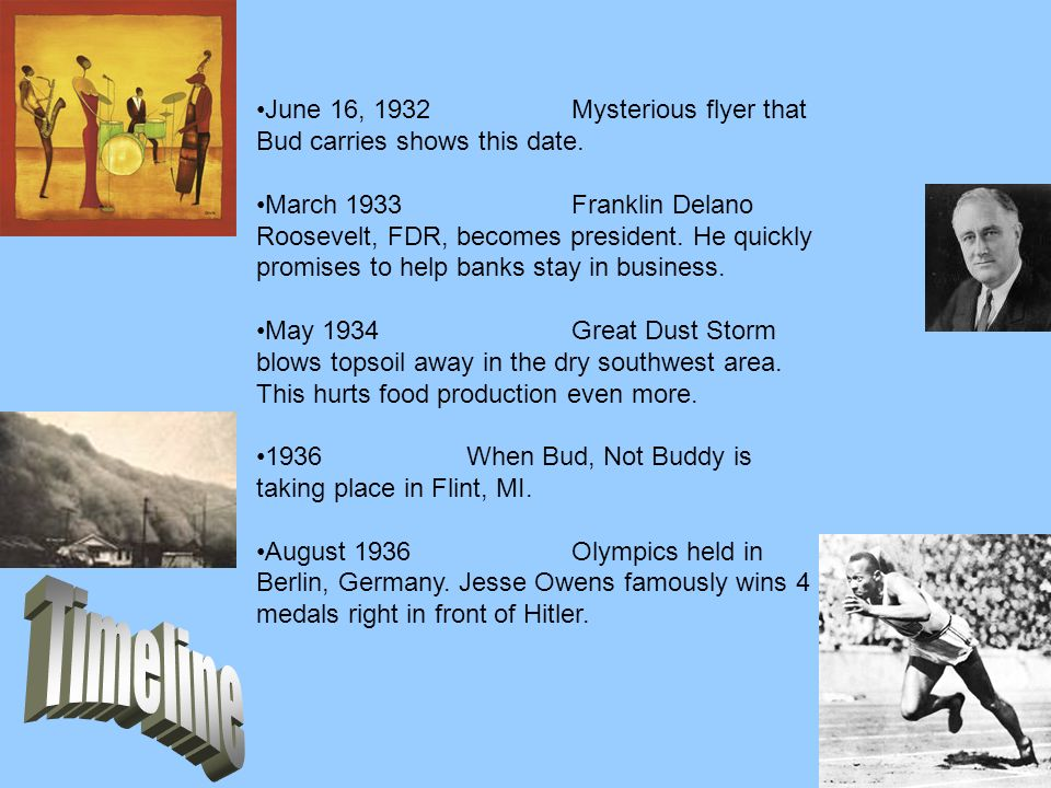 June 16, 1932 Mysterious flyer that Bud carries shows this date.