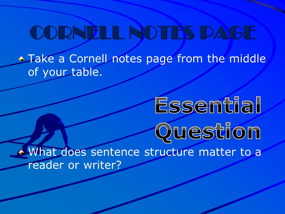 Essential Question CORNELL NOTES PAGE