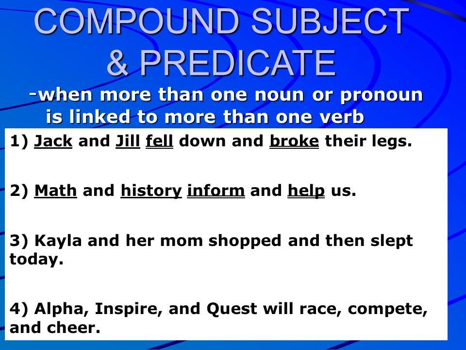 COMPOUND SUBJECT & PREDICATE