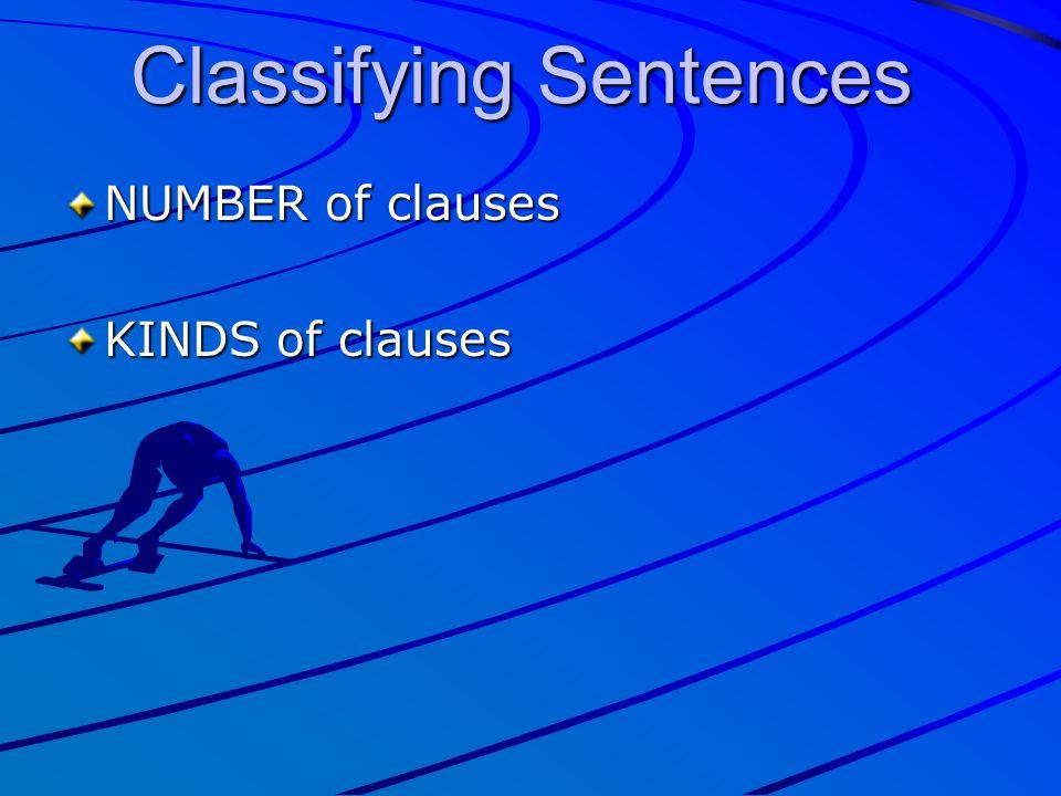 Classifying Sentences