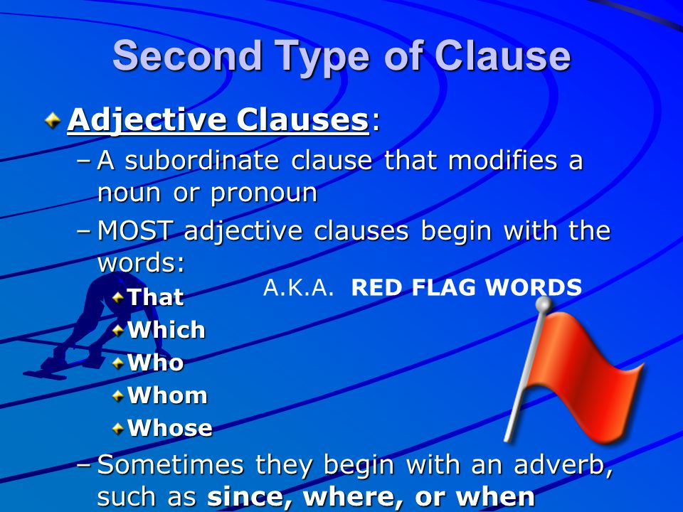 Second Type of Clause Adjective Clauses: