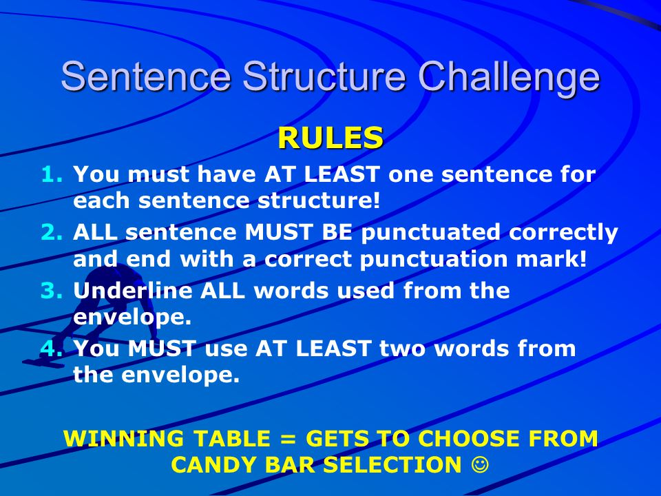 Sentence Structure Challenge
