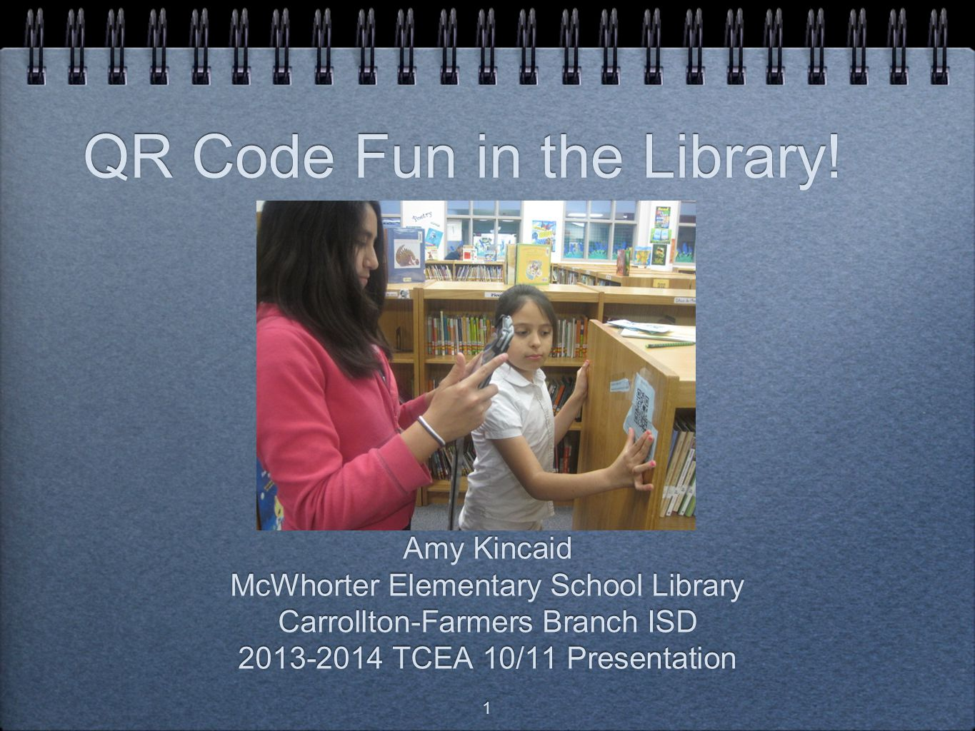 QR Code Fun in the Library!