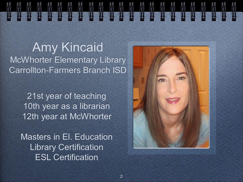 Amy Kincaid McWhorter Elementary Library Carrollton-Farmers Branch ISD