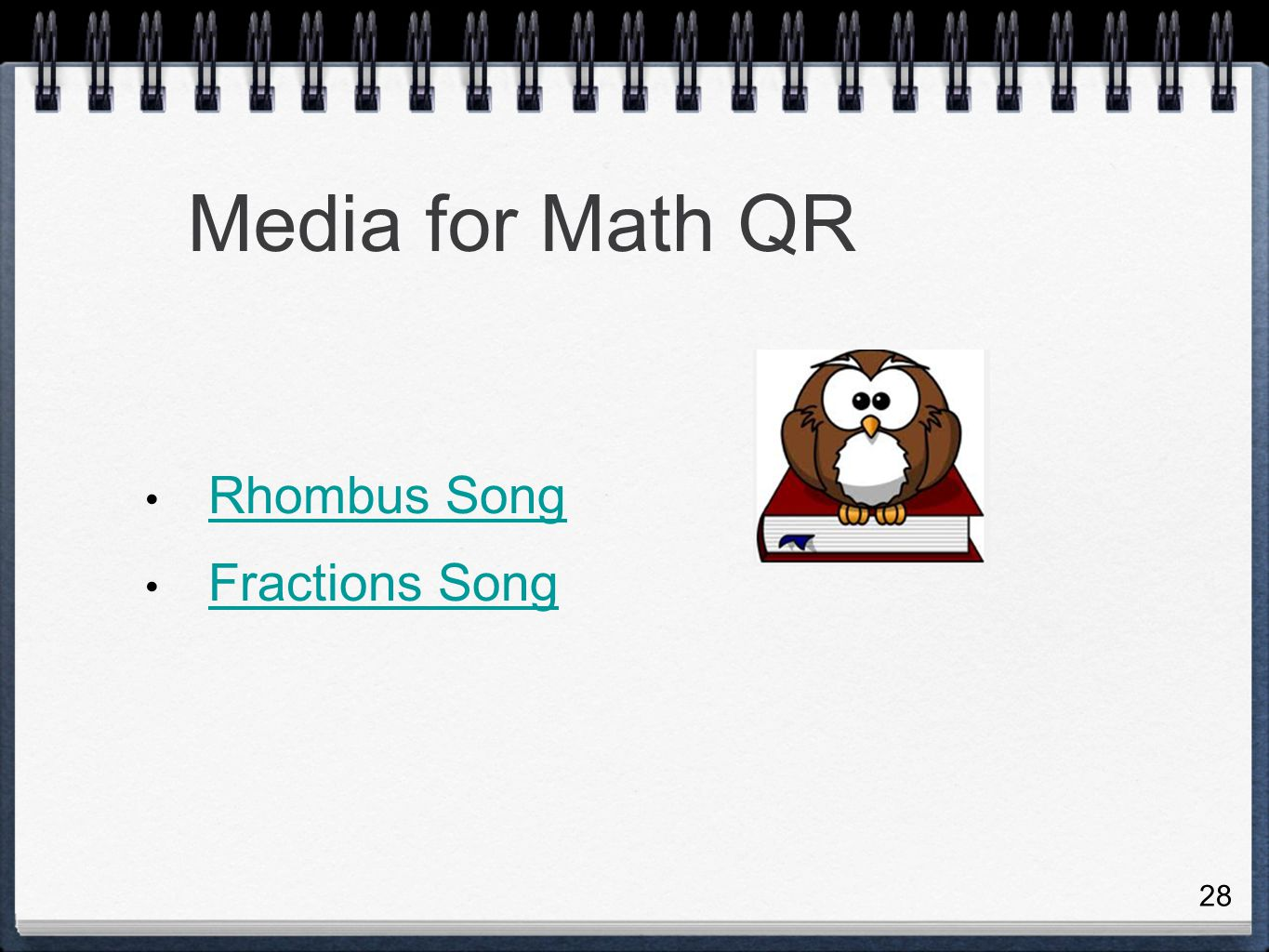 Media for Math QR Rhombus Song Fractions Song