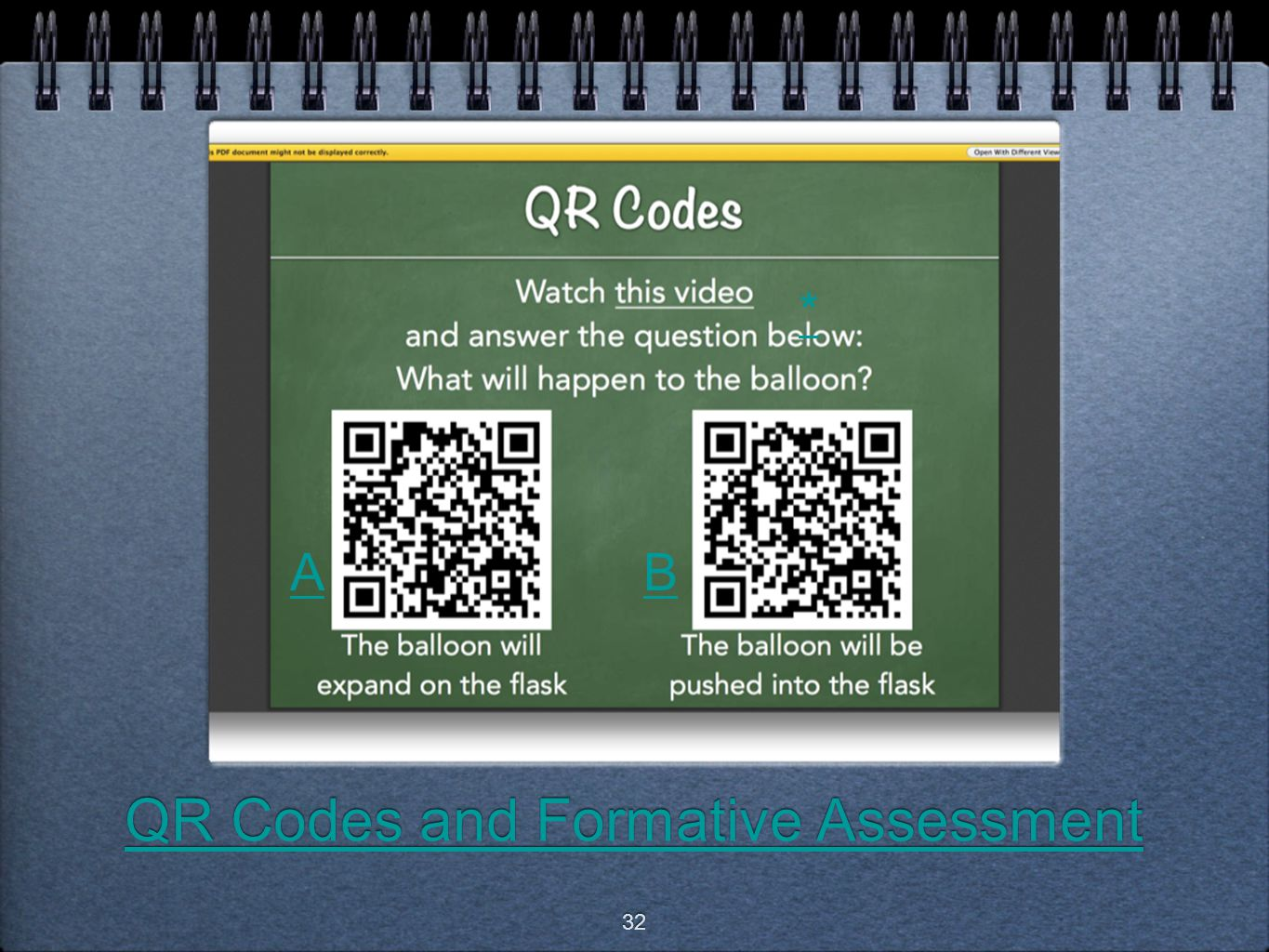 QR Codes and Formative Assessment