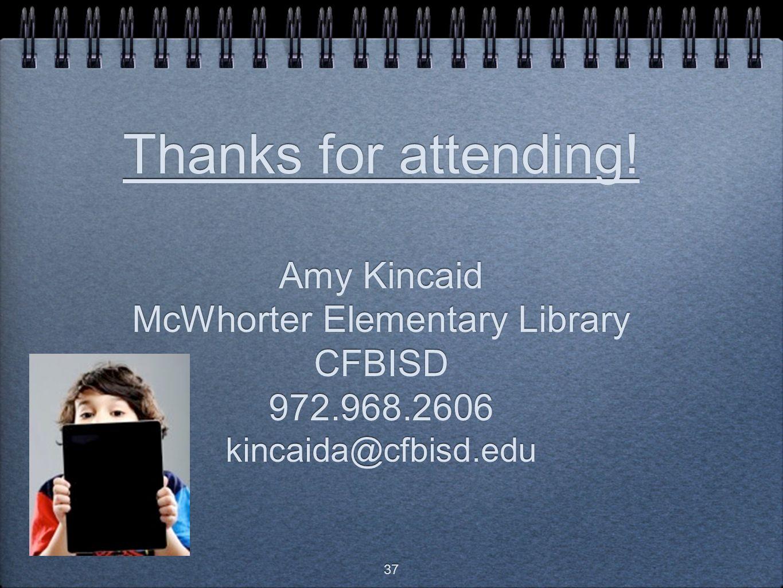 Thanks for attending.