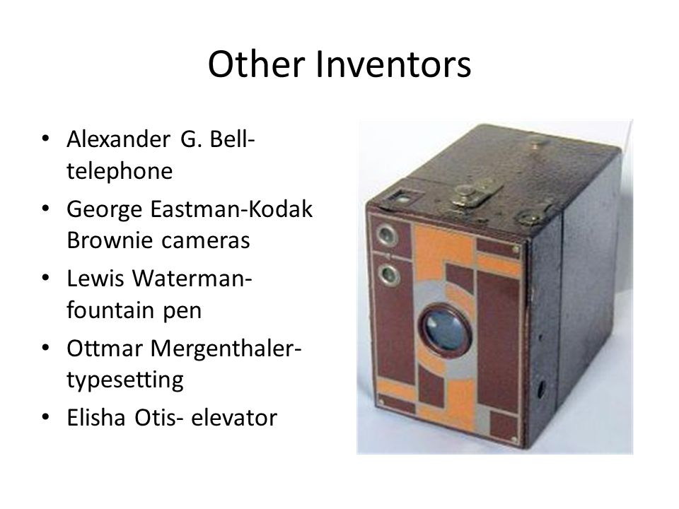 Other Inventors Alexander G. Bell-telephone