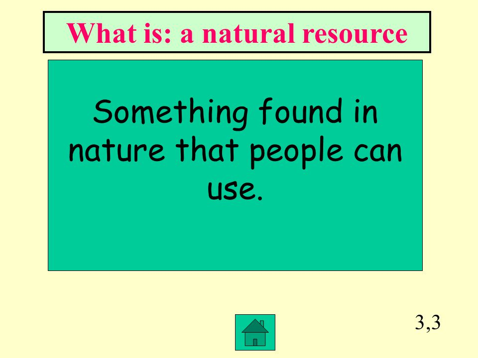 What is: a natural resource