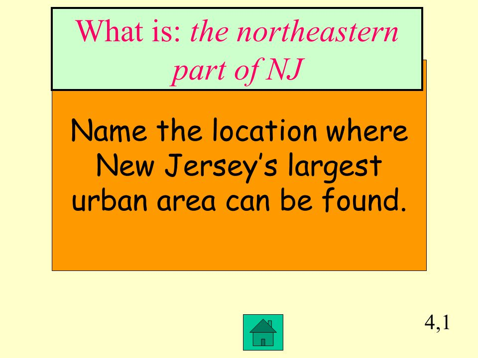 What is: the northeastern part of NJ