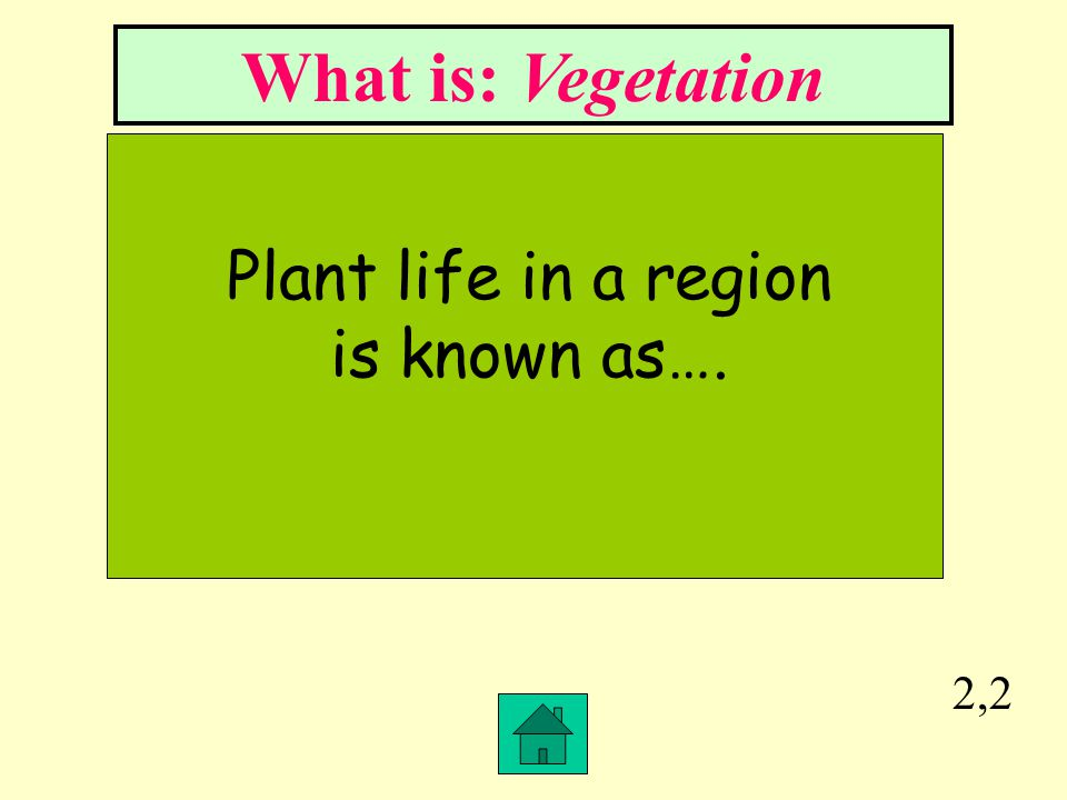 Plant life in a region is known as….