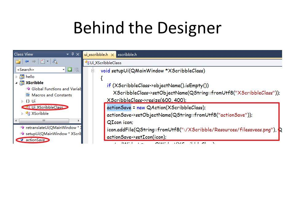 Behind the Designer