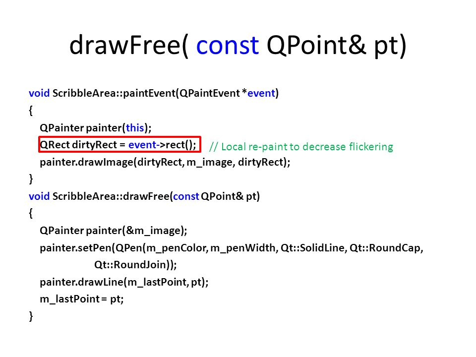 drawFree( const QPoint& pt)