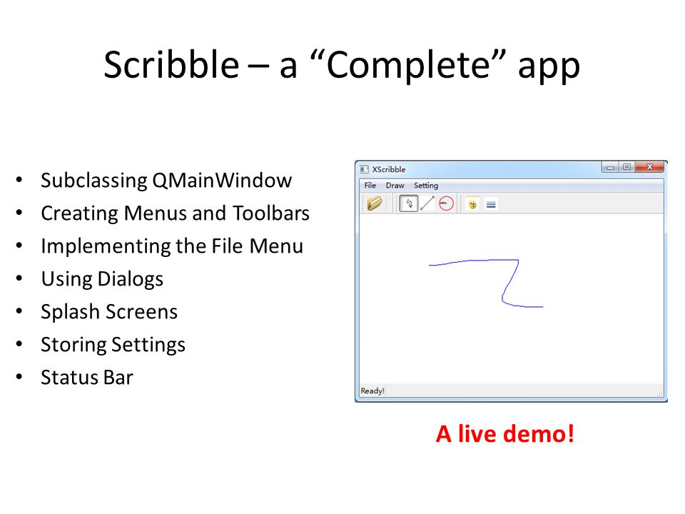 Scribble – a Complete app