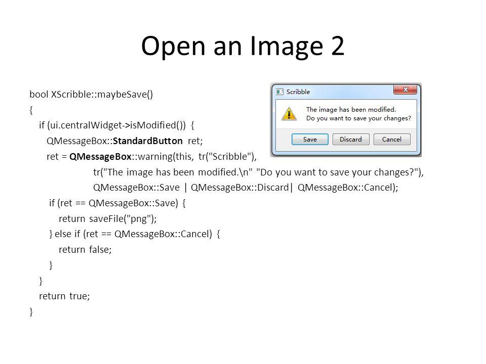 Open an Image 2